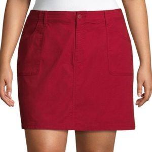 St. John's Bay Shorts - NWT St. John's Bay 20W Red Skort with Pockets